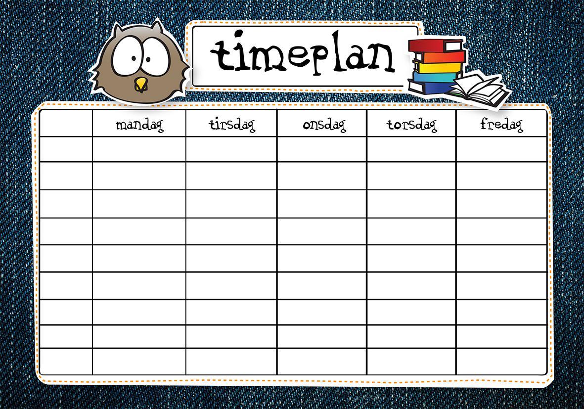 Bilderesultat for timeplan